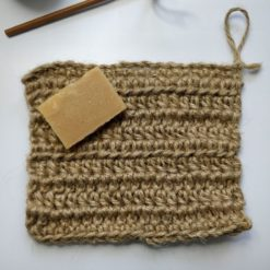 Crocheted scrubby